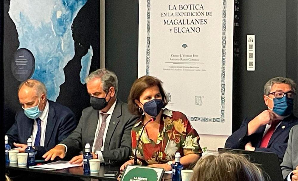 Presentación del libro la botica en la Expedición de Magallanes y Elcano